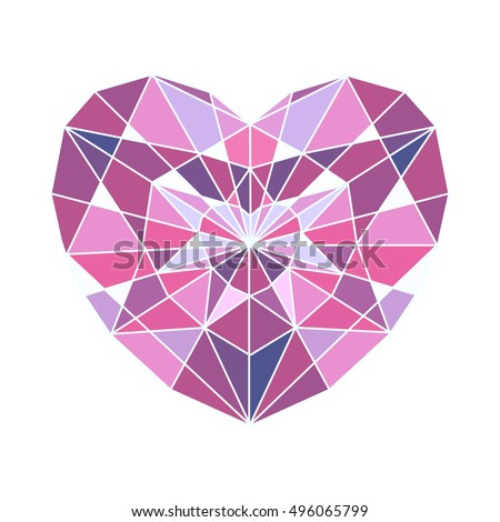 white background with reflection diamond on drawing purple