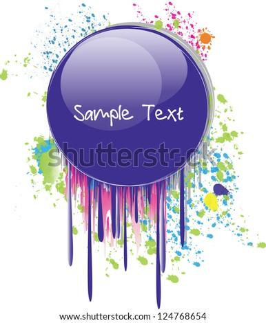 purple droplet - stock vector