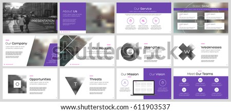 Purple elements for infographics on a white background. Presentation templates. Use in flyer and leaflet, corporate report, marketing, advertising, annual report, banner.