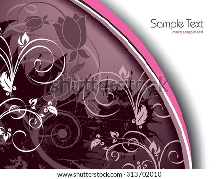 Purple Floral Background. - stock vector