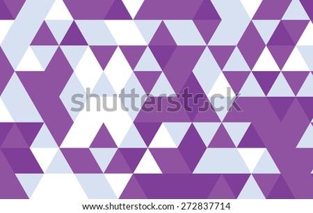 purple geometric pattern background.triangle pattern vector design template. - stock vector