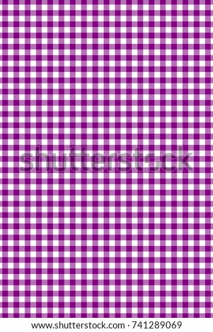 Purple Gingham Pattern. Texture From Rhombus/squares For   Plaid,  Tablecloths, Clothes