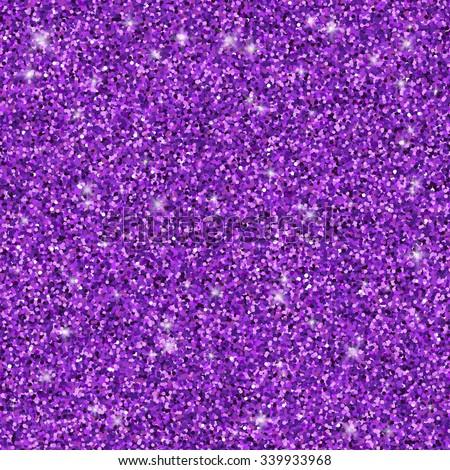 Purple glitter seamless pattern, vector texture - stock vector