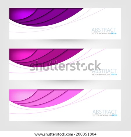 Purple label background for text and message design , Vector - stock vector