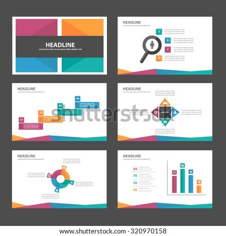Purple orange blue green Multipurpose Infographic elements and icon presentation template flat design set for advertising marketing brochure flyer leaflet - stock vector