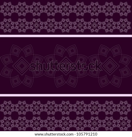 Purple Pattern. Jpeg Version Also Available In Gallery. - stock vector