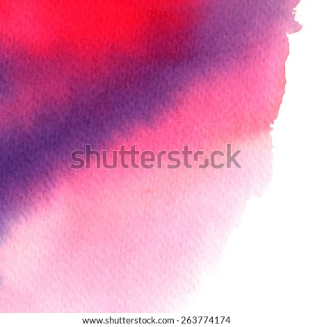 purple pink abstract watercolor stain/ background for your design/ vector illustration - stock vector
