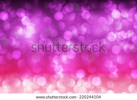 Purple pink Defocused Light, Flickering Lights, Vector abstract festive background with bokeh defocused lights.  - stock vector