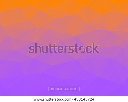 purple polygon pattern. hexagon background. triangle background, Design element. Business card. - stock vector