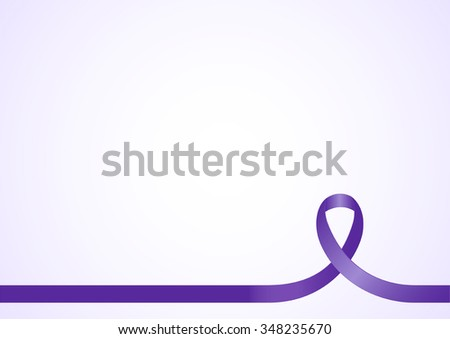 Purple ribbon, background template with copy space for cover, page or advertisement design lay out - stock vector