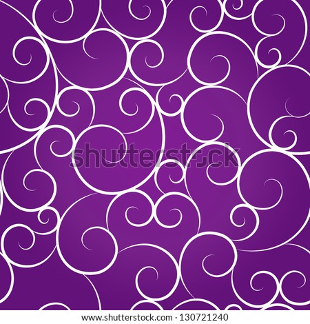 Purple seamless curved pattern - stock vector