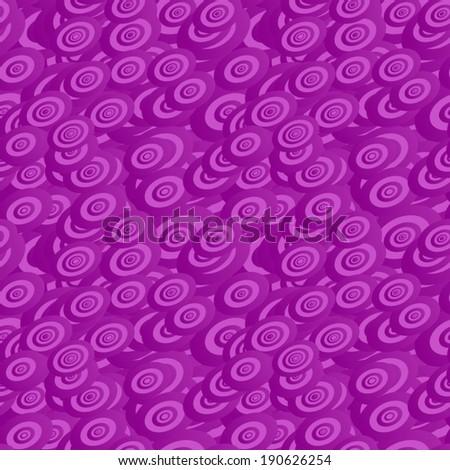 Purple seamless ellipse pattern background - vector version - stock vector