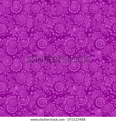 Purple seamless floral pattern background - vector version - stock vector