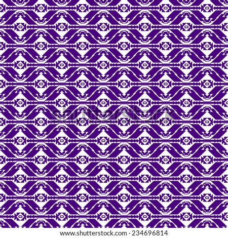 Purple Seamless Pattern Ornament in Vector