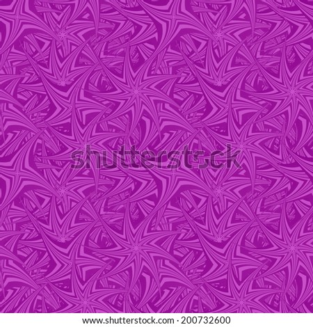 Purple seamless spin star pattern background - vector version - stock vector