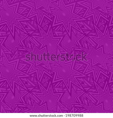 Purple seamless star pattern background - vector version - stock vector