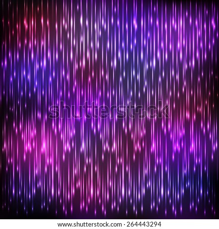 Purple shining neon vector rain drops - stock vector