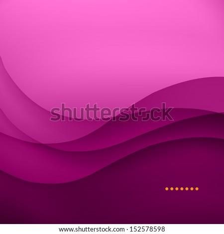 Purple smooth twist light lines vector background. - stock vector