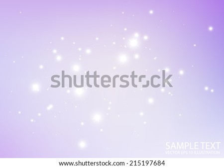 Purple space vector sparkle background illustration  - Vector abstract purple space spark  template - stock vector