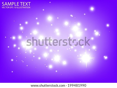Purple space vector sparkles background illustration - Vector abstract purple space spark template - stock vector