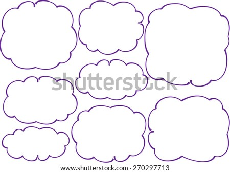 purple  speech bubble