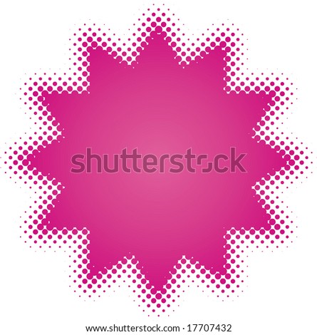 purple star (from dots design series) - stock vector
