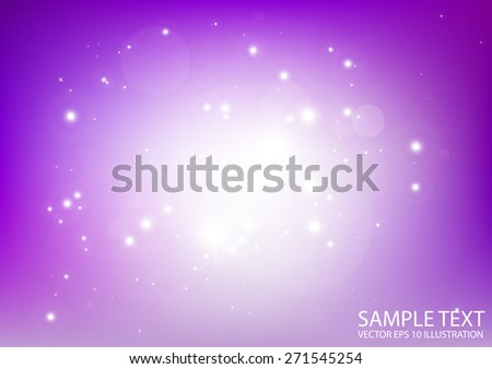 Purple starful vector space background illustration - Vector abstract purple sparkles  background template - stock vector