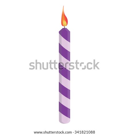Purple Birthday Candle Clipart Purple Candle Isolated...