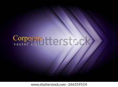 Purple technology background. Big arrows vector design - stock vector