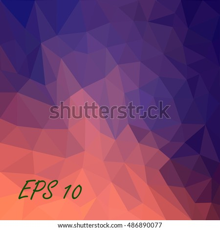 purple triangles abstract background.