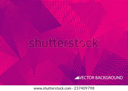Purple vector background with triangles, triangle design, geometrical pattern with polygons, shards design - stock vector