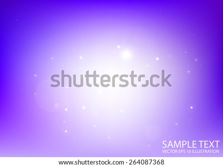 Purple vector space field background  illustration - Vector abstract purple sparkling background template - stock vector