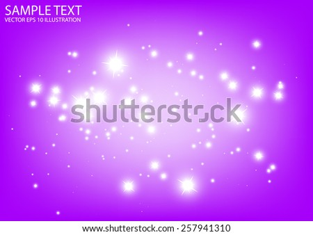 Purple vector sparkling background illustration - Vector abstract purple sparkle template background - stock vector