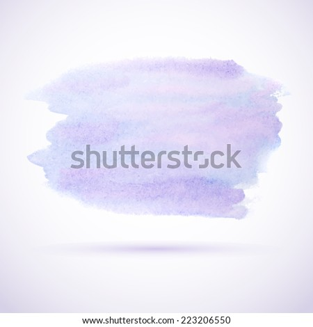 Purple watercolor stain design element - stock vector