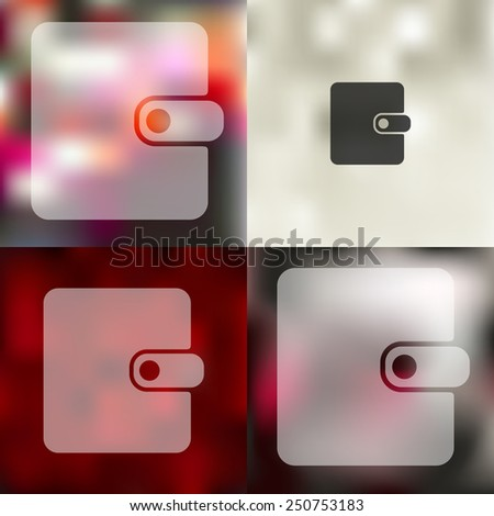 purse icon on blurred background