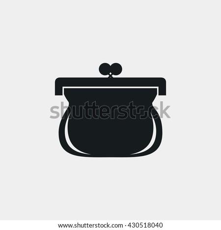 purse icon. purse vector icon. purse icon image. purse icon symbol. flat design. purse icon logo. purse icon sign. purse icon picture.  purse icon art. purse icon JPG. purse icon eps.  - stock vector