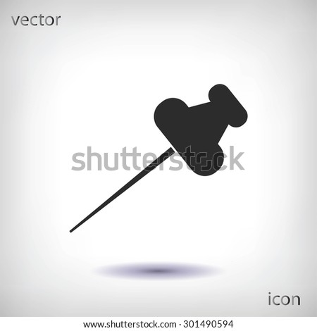 pushpins icon - stock vector