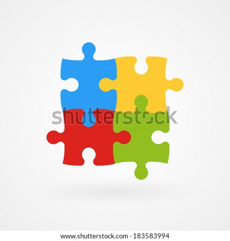 Puzzle: autism awareness - stock vector