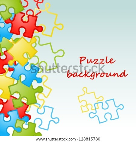 Puzzle background - stock vector