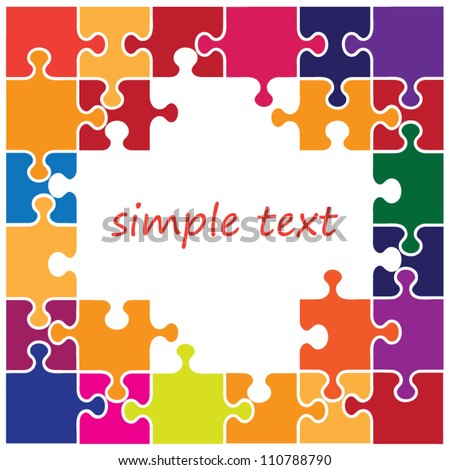 Puzzle background with space for text - stock vector