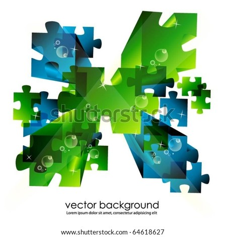 puzzle concept - stock vector