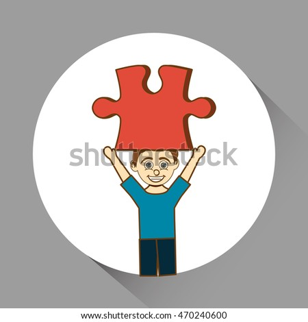 Puzzle concept with icon design, vector illustration 10 eps graphic.