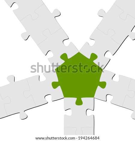 Puzzle Connection / Teamwork symbolism - stock vector