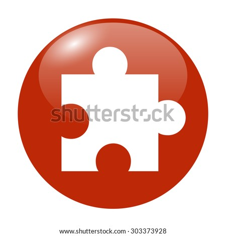 puzzle Flat Icon, isolated. Flat design style - stock vector