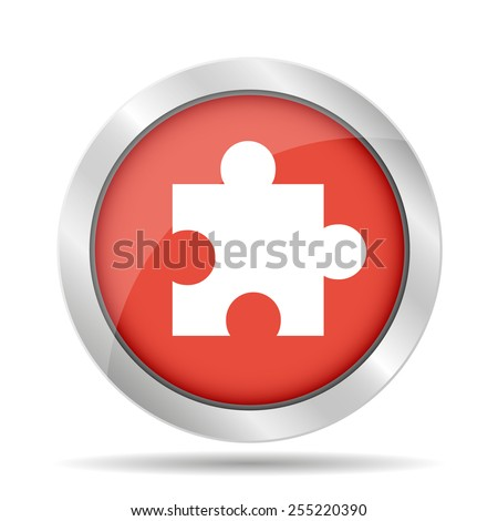 puzzle Flat Icon, isolated on white background. - stock vector