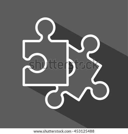 puzzle game isolated icon design, vector illustration  graphic