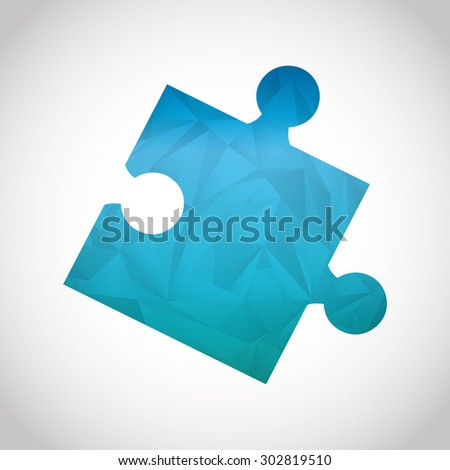 puzzle icon design, vector illustration eps10 graphic