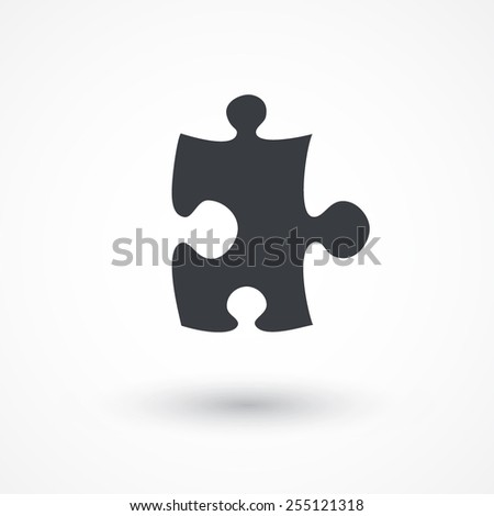 Puzzle icon. Flat style design icon - stock vector
