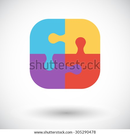 Puzzle icon. Flat vector related icon for web and mobile applications. It can be used as - logo, pictogram, icon, infographic element. Vector Illustration.  - stock vector