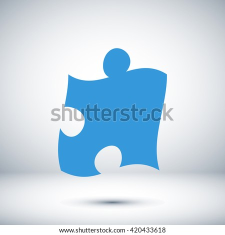 puzzle icon vector eps 10